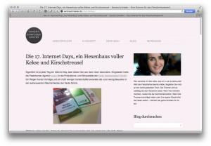Sandra Schröder schreibt über die Internet Days #17